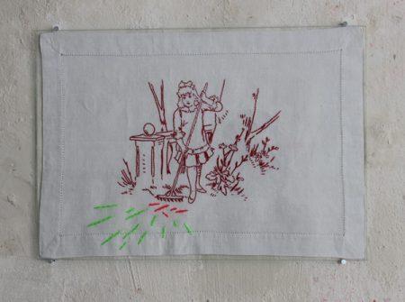 Christiane-Rasch, Ohne-Titel,-2016,-Fundstück,-Garn,-33-x-24-cm