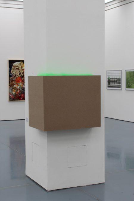 Christiane-Rasch,Ohne-Titel,-2017,-Dämmplatten,-Signalspray,-87-x-57-x-73-cm
